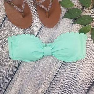 LOFT Beach NWT Scallop Hem Bikini Top